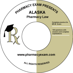 Alaska Pharmacy Law Test (Online Access)
