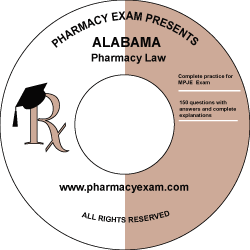 Alabama Pharmacy Law Test (Downloadable)