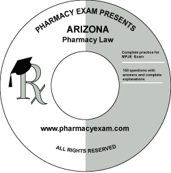 Arizona Pharmacy Law Test (Downloadable)
