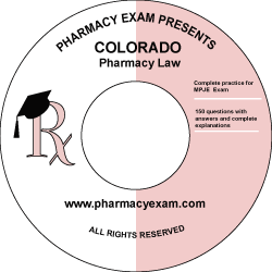 Colorado Pharmacy Law Test (Online Access)