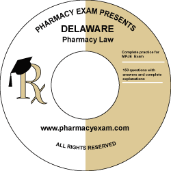 Delaware Pharmacy Law Test (Downloadable)