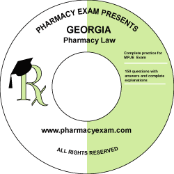 Georgia Pharmacy Law Test (Downloadable)