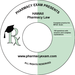 Hawaii Pharmacy Law Test (Downloadable)