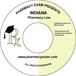 Indiana Pharmacy Law Test (Downloadable)