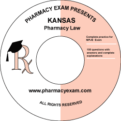 Kansas Pharmacy Law Test (Downloadable)