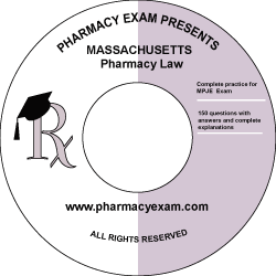 Massachusetts Pharmacy Law Test (Downloadable)