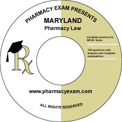 Maryland Pharmacy Law Test (Online Access)