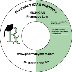 Michigan Pharmacy Law Test (Cd Rom)