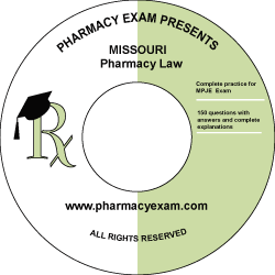 Missouri Pharmacy Law Test (Downloadable)