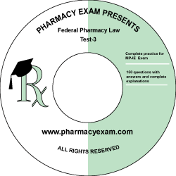 Federal Pharmacy Law Test-3 (Cd Rom)