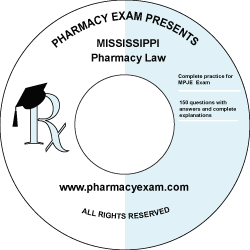 Mississippi Pharmacy Law Test (Downloadable)
