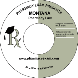 Montana Pharmacy Law Test (Online Access)