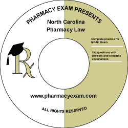 North Carolina Pharmacy Law Test (Online Access)