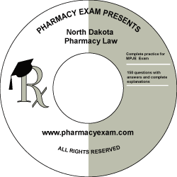 North Dakota Pharmacy Law Test (Downloadable)
