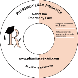 Nebraska Pharmacy Law Test (Cd Rom)