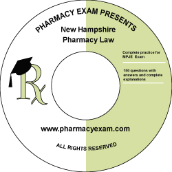 New Hampshire Pharmacy Law Test (Downloadable)