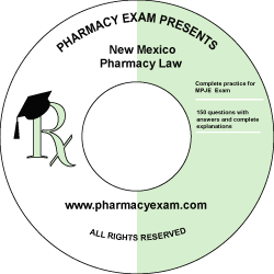 New Mexico Pharmacy Law Test (Cd Rom)