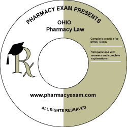 Ohio Pharmacy Law Test (Downloadable)