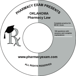 Oklahoma Pharmacy Law Test (Downloadable)