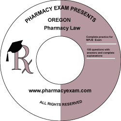Oregon Pharmacy Law Test (Cd Rom)