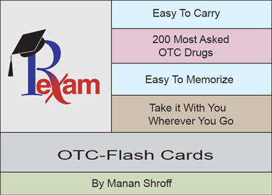 RxExam NAPLEX OTC & Herbal Products Flash Cards (200 cards)