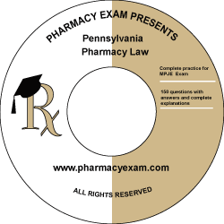 Pennsylvania Pharmacy Law Test (Downloadable)