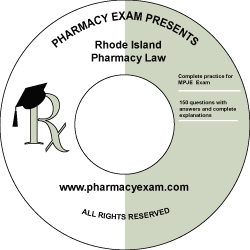 Rhode Island Pharmacy Law Test (Online Access)