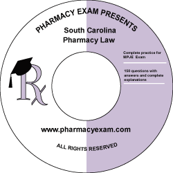 South Carolina Pharmacy Law Test (Downloadable)