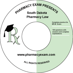 South Dakota Pharmacy Law Test (Cd Rom)