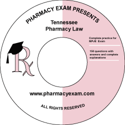 Tennessee Pharmacy Law Test (Downloadable)
