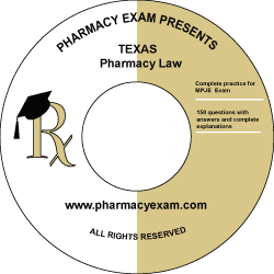 Texas Pharmacy Law Test (Downloadable)