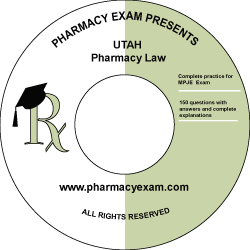Utah Pharmacy Law Test (Online Access)