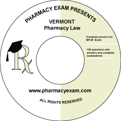 Vermont Pharmacy Law Test (Downloadable)