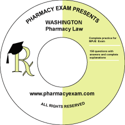 Washington Pharmacy Law Test (Downloadable)