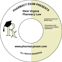 West Virginia Pharmacy Law Test (Online Access)