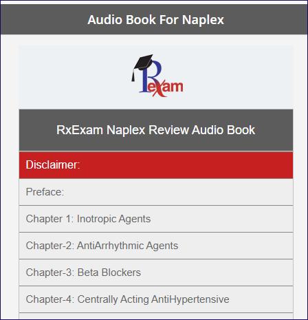 RxExam NAPLEX Audio Book