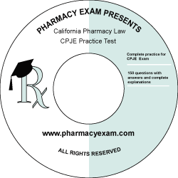 California Pharmacy Law Test (CPJE-Cd Rom)