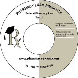 Federal Pharmacy Law Test-1 (Cd Rom)
