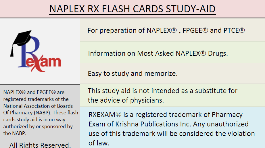 Naplex Flash Card 1